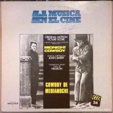 Discos de vinilo: MIDNIGHT COWBOY (COWBOY DE MEDIANOCHE). Lote 191977325