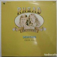 Discos de vinilo: RHEAD BROTHERS_–DEDICADO (DEDICATE). Lote 191977595