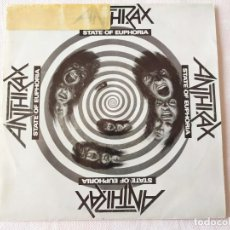 Discos de vinilo: ANTHRAX – STATE OF EUPHORIA. Lote 191984136