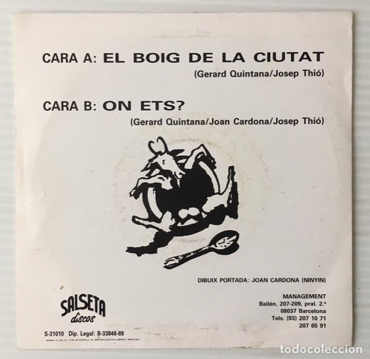 Discos de vinilo: SOPA DE CABRA. EL BOIG DE LA CIUTAT.SALSETA DISCOS. - Foto 2 - 191987157