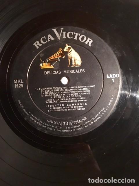 Discos de vinilo: LIBERTAD LAMARQUE - DELICIAS MUSICALES - EDICIÓN MEXICANA - Foto 3 - 191991682