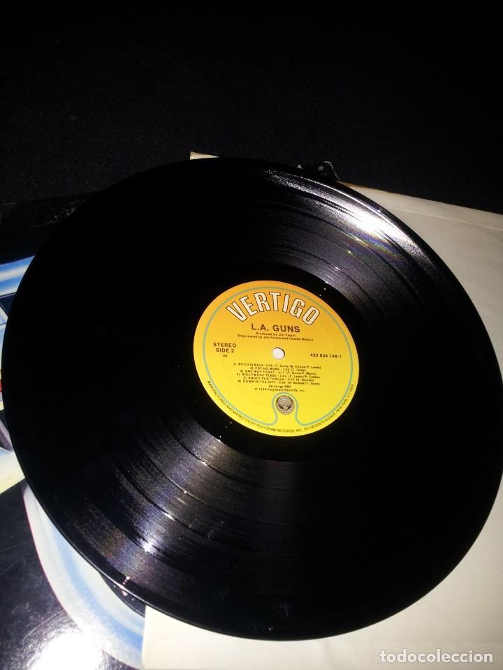 Discos de vinilo: L.A.GUNS - L.A.GUNS - LP ALBUM PROMO - VERTIGO 1988 - Foto 4 - 191991880