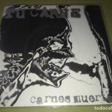 Discos de vinilo: TU CARNE / BOWEL STEW - CARNES MUERTAS SPLIT 7 EP - GORE GRIND. Lote 191992241