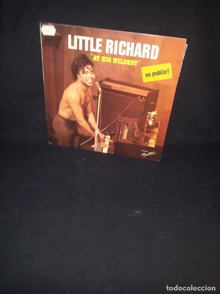 LITTLE RICHARD - AT HIS WILDEST (EN PUBLIC) - LES DISQUES MOTORS 1974 (Música - Discos - LP Vinilo - Rock & Roll)