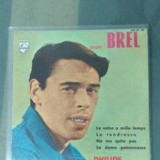 Discos de vinilo: JACQUES BREL. NE ME QUITES PAS. +3 EPS. Lote 191995982