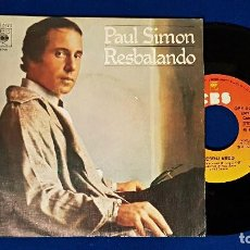 Discos de vinilo: PAUL SIMON - SLIP SLIDIN´AWAY / SOMETHING SO RIGHT. EDITADO POR CBS. AÑO 1.977. Lote 192010386