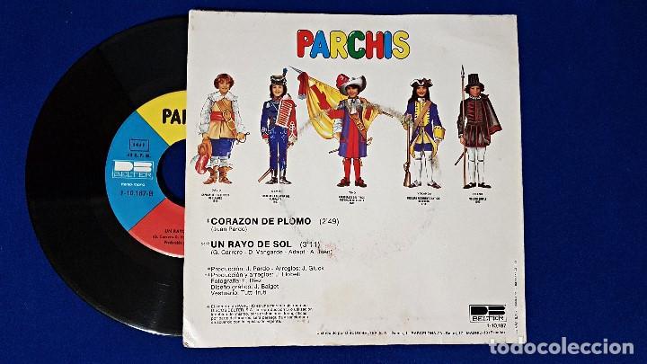 Discos de vinilo: Parchis - Corazón de plomo / Un rayo de sol. Editado por Belter. año 1.981 - Foto 2 - 192014171