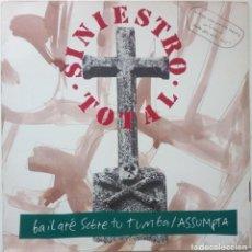 Discos de vinilo: SINIESTRO TOTAL.BAILARE SOBRE TU TUMBA + 3.(ARIOLA 1992).SPAIN.. Lote 52831479