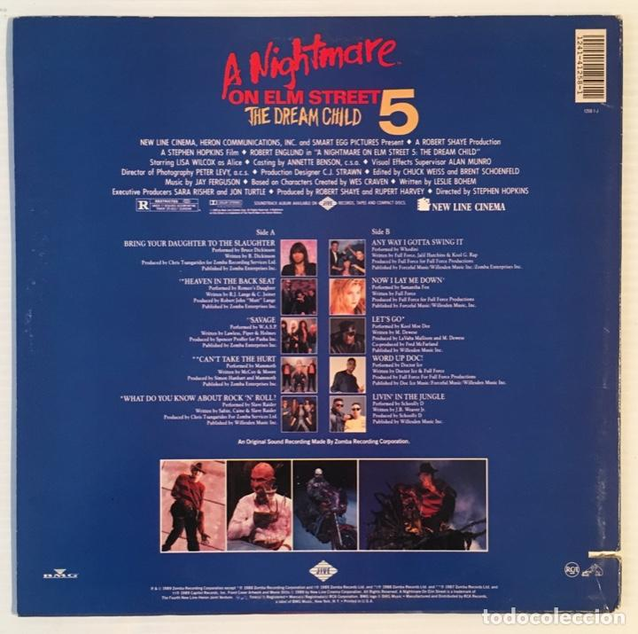 Discos de vinilo: A NIGHTMARE ON ELM STREET 5. 1988. - Foto 2 - 192026162