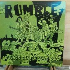Discos de vinilo: RUMBLE - QUEBEC GARAGE BEAT 66-67. LP VINILO BUEN ESTADO.. Lote 192039772