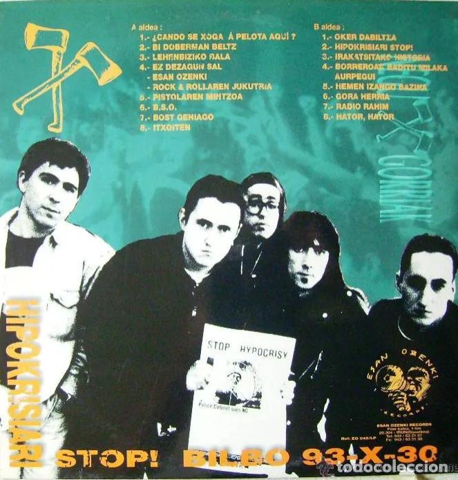 Discos de vinilo: LP NEGU GORRIAK HIPOKRISIARI STOP! 93-X-30 PARA EL KE NECESITE LA CARPETA RARO DIFÍCIL ESKORBUTO RIP - Foto 2 - 192047998