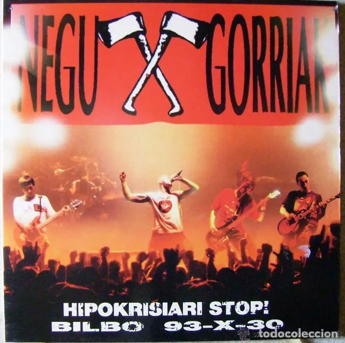 Discos de vinilo: LP NEGU GORRIAK HIPOKRISIARI STOP! 93-X-30 PARA EL KE NECESITE LA CARPETA RARO DIFÍCIL ESKORBUTO RIP - Foto 4 - 192047998