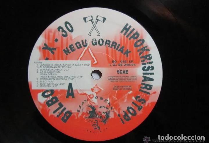 Discos de vinilo: LP NEGU GORRIAK HIPOKRISIARI STOP! 93-X-30 PARA EL KE NECESITE LA CARPETA RARO DIFÍCIL ESKORBUTO RIP - Foto 5 - 192047998