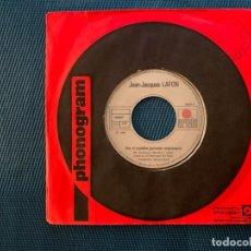 Discos de vinilo: JEAN-JACQUES LAFON ?– LE GÉANT DE PAPIER SELLO: ARIOLA ?– 106 947 FORMATO: VINYL, 7 , SINGLE, 45 RPM. Lote 192059883