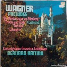 Discos de vinilo: WAGNER. PRELLDES. BERNARD HAITINK. LP ESPAÑA. Lote 192062458