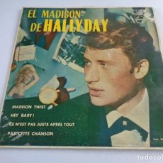 Discos de vinilo: EL MADISON DE HALLYDAY MADISON TWIST EP MADE IN SPAIN 1962. Lote 192073950