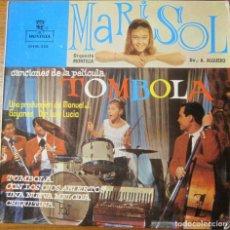 Discos de vinilo: MARISOL CANCIONES DE LA PELÍCULA TÓMBOLA, SELLO PROMO EN CARA 2ª. Lote 192078923