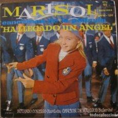 Discos de vinilo: MARISOL CANCIONES DE LA PELÍCULA HA LLEGADO UN ÁNGEL. ESTANDO CONTIGO. Lote 192088177