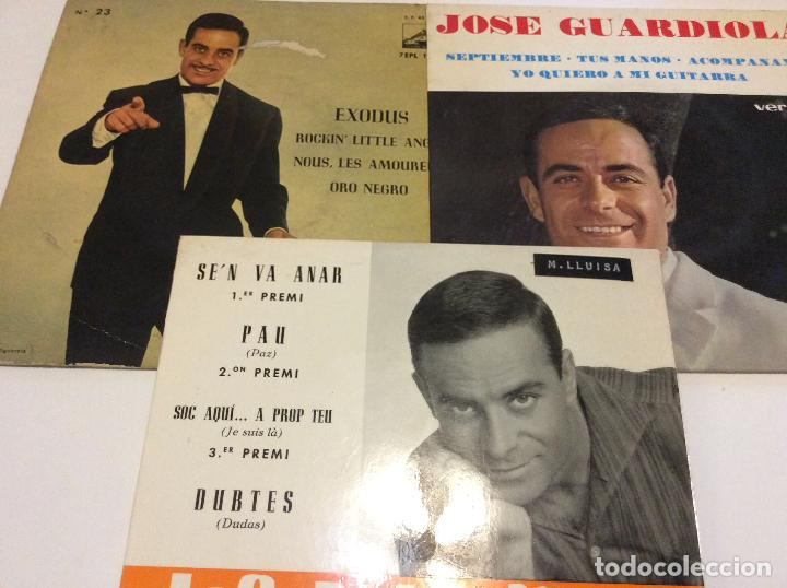 JOSE GUARDIOLA LOTE DE TRES SINGLES (Música - Discos - Singles Vinilo - Grupos Españoles 50 y 60)