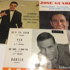 Discos de vinilo: JOSE GUARDIOLA LOTE DE TRES SINGLES . Lote 192096907