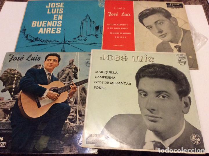 JOSE LUIS LOTE DE 4 SINGLES (Música - Discos - Singles Vinilo - Grupos Españoles 50 y 60)