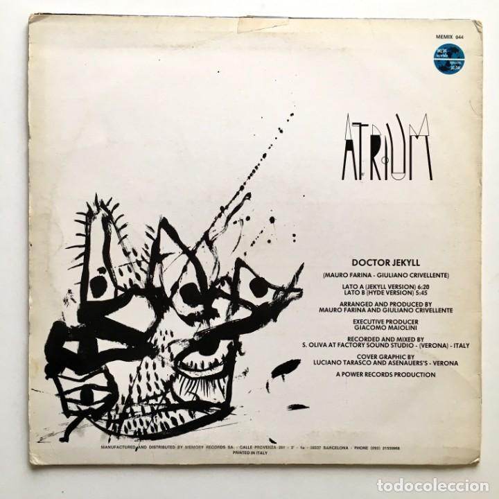 Discos de vinilo: Maxisingle vinilo 45 RPM, ATRIUM, Doctor Jekyll, MEM records 1986 - Foto 2 - 192102468