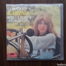 Discos de vinilo: KARINA, EN UN MUNDO NUEVO, CANTA EN ALEMAN. Lote 192105595