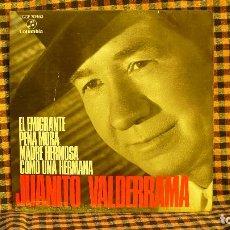 Discos de vinilo: JUANITO VALDERRAMA, EL EMIGRANTE, PENA MORA, MADRE HERMOSA, COMO UNA HERMANA, COLUMBIA, 1962.. Lote 192117831