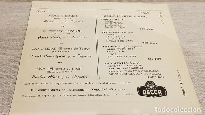 Discos de vinilo: MANTOVANI / ANTON KARAS / F. CHACKSFIELD / STANLEY BLACK / EP- DECCA-CALIDAD LUJO. ****/**** - Foto 2 - 192119657