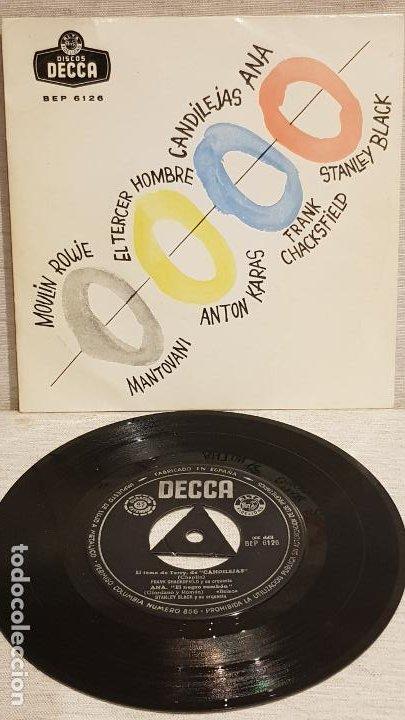 MANTOVANI / ANTON KARAS / F. CHACKSFIELD / STANLEY BLACK / EP- DECCA-CALIDAD LUJO. ****/**** (Música - Discos de Vinilo - EPs - Orquestas)