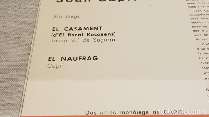 Discos de vinilo: JOAN CAPRI / EL CASAMENT-EL NAUFRAG / SG - VERGARA-1961 / CALIDAD LUJO.****/**** - Foto 2 - 192121265