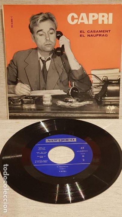 JOAN CAPRI / EL CASAMENT-EL NAUFRAG / SG - VERGARA-1961 / CALIDAD LUJO.****/**** (Música - Discos - Singles Vinilo - Solistas Españoles de los 50 y 60)