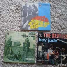 Discos de vinilo: 3 SINGLES THE BEATLES. HEY JUDE, LET IT BE, THE BALLAD ... ORIGINALES. OCASION!!!!!!!!. Lote 207735831