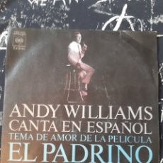 Discos de vinilo: ANDY WILLIANS. EL PADRINO. IMAGINE.. Lote 192138343