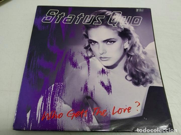 STATUS QUO – WHO GETS THE LOVE?--EDICION ESPAÑOLA 1988 (Música - Discos de Vinilo - Maxi Singles - Heavy - Metal)