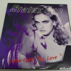 Discos de vinilo: STATUS QUO ‎– WHO GETS THE LOVE?--EDICION ESPAÑOLA 1988. Lote 192165195