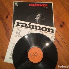 Discos de vinil: DISCO LP RAIMON A L´OLIMPIA 7 JUNIO DE 1966 CON PAPEL DE POEMAS DE RAIMON TRADUCIDOS FRANCES. Lote 192167057