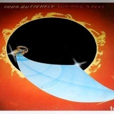 Discos de vinilo: V390 - IRON BUTTERFLY. SUN AND STEEL. LP VINILO. Lote 192176188
