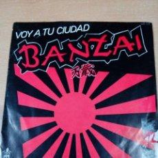 Discos de vinilo: BANZAI - VOY A TU CIUDAD - TU REAL SALVADOR - - BUEN ESTADO - VER FOTOS - LEER. Lote 192178178