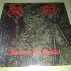 Discos de vinilo: FUNERAL WHORE / OBSCURE INFINITY - SUMMON THE DEAD - DEATH METAL. Lote 192185206