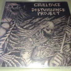 Discos de vinilo: CRUEL FACE / DISTURBANCE PROJECT - EP GRINDCORE. Lote 192186527