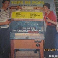 Discos de vinilo: TOPS IN POPS ALL THE LATEST HIT RECORDING LP - ORIGINAL U.S.A. - ALLEGRO 1957 MONOAURAL. Lote 192187241