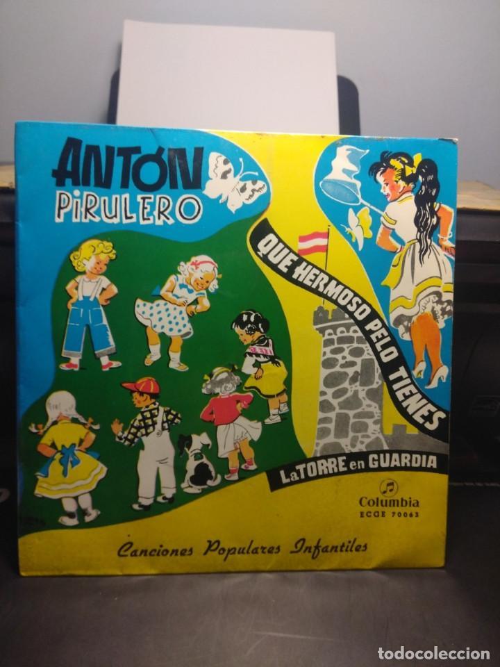 EP CANCIONES POPULARES INFANTILES : ANTON PIRULETO, TENGO UNA MUÑECA VESTIDA DE AZUL, MAMBRU, ETC (Música - Discos de Vinilo - EPs - Música Infantil)