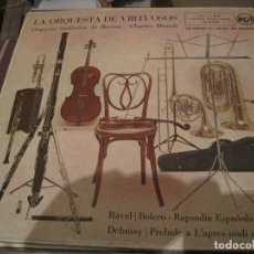 Discos de vinilo: LP LA ORQUESTA DE VIRTUOSOS CHARLES MUNCH SINFONICA DE BOSTON RCA 16125 SPAIN 195???. Lote 192209692