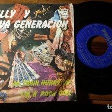 Discos de vinilo: SHELLY Y LA NUEVA GENERACIÓN SINGLE MR. TRAIN, HURRY UP 1968 IM A POOR GIRL. Lote 192214518