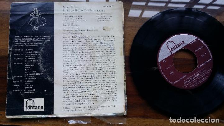 Discos de vinilo: el amor brujo Manuel de falla single made in Holland, fontana - Foto 2 - 192221152
