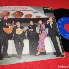Discos de vinilo: LOS VALLDEMOSA AIRIÑOS DE GALICIA/POR AMBOS LADOS 7 SINGLE 1972 BELTER . Lote 192221328
