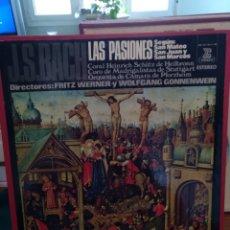 Discos de vinilo: BACH, LAS PASIONES. ERATO 1975. 7 DISCOS Y LIBRETO.. Lote 192244525