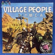 Discos de vinilo: SINGLE DE VILLAGE PEOPLE Y M.C.A. - ESPAÑA - 1978. Lote 192253611