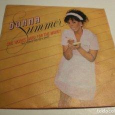 Dischi in vinile: DONNA SUMMER. SHE WORKS HARD FOR THE MONEY. I DO BELIEVE (I FELL IN LOVE) MERCURY 1983 (PROBADO). Lote 192255395